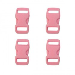 Fermoir clip Paracord Rose 10 mm
