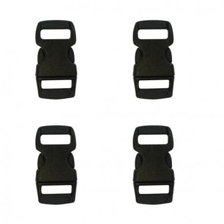 Fermoir clip Paracord Noir 10 mm