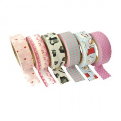 6 Masking Tape Tea Time - 15 mm x 10 m