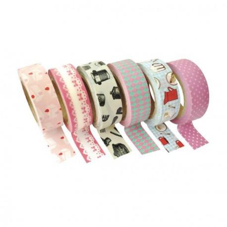 6 Masking Tape Tea Time - 15 mm x 10 m