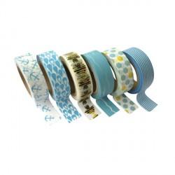 6 Masking Tape Mer - 15 mm x 10 m