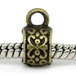 Attache métallique bronze antique - à l'unité