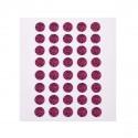Planche d'images Léopard rose pour cabochon rond 12 mm