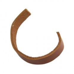 Cordon plat en cuir, marron 10 mm ø - au mètre