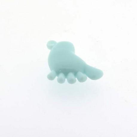 Breloque en plastique Pied bleu