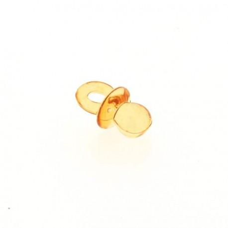 Breloque en plastique transparent Tétine orange