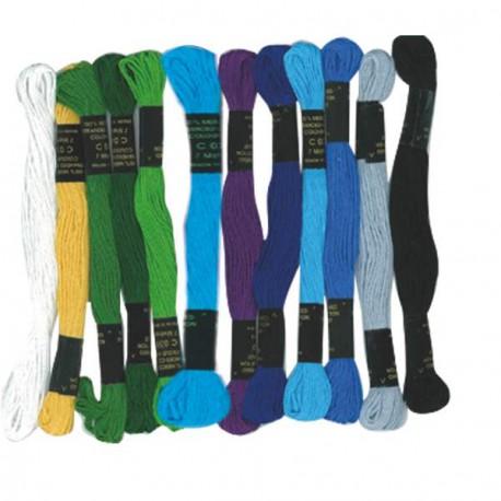 Lot 12 Fils pour bracelets brésiliens Mers du Sud