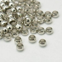 Perles à écraser 3 mm, argentées - 320 pièces