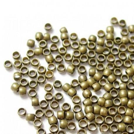 Perles à écraser 2 mm, bronze antique - 1000 pièces