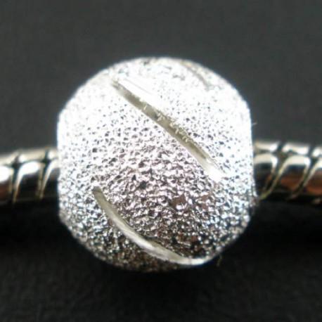 Métal perle Stardust rayée style Pandora - à l'unité