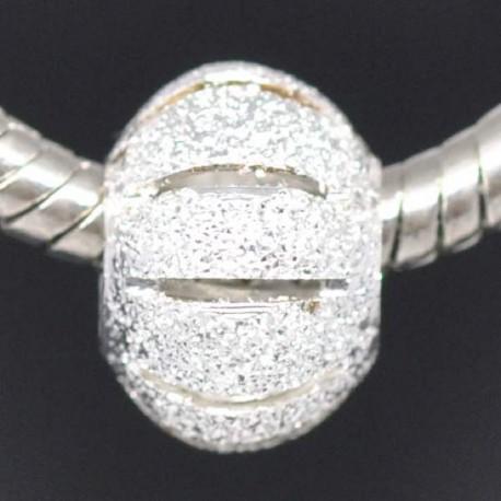 Métal perle Stardust aplatie style Pandora - à l'unité