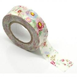 Masking Tape fleuri - 15 mm x 10 m