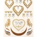 Tatouage temporaire Tattoo Coeurs ornés