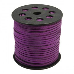 Cordon suédine Violet brillant 3 mm ø
