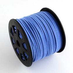 Cordon suédine Bleuet 3 mm ø