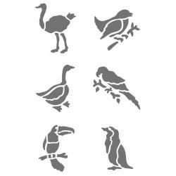 Pochoir plastique Les oiseaux