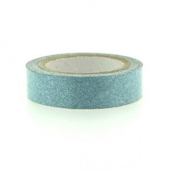 Glitter Tape Turquoise - 15 mm x 4 m