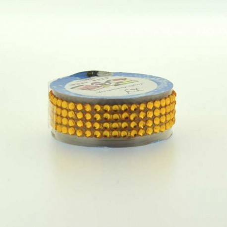 Strass Tape Jaune doré - 18 mm x 0,5 m
