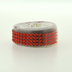 Strass Tape Rouge - 18 mm x 0,5 m