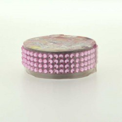 Strass Tape Rose - 18 mm x 0,5 m