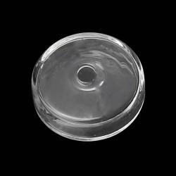Globe en verre - rond plat 25 mm