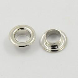 Caps embout de métal argenté clair, 8 x 5,4 mm
