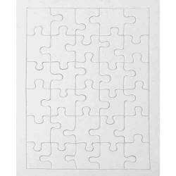 Puzzle en carton blanc àdécorer Rectangle 30 pièces
