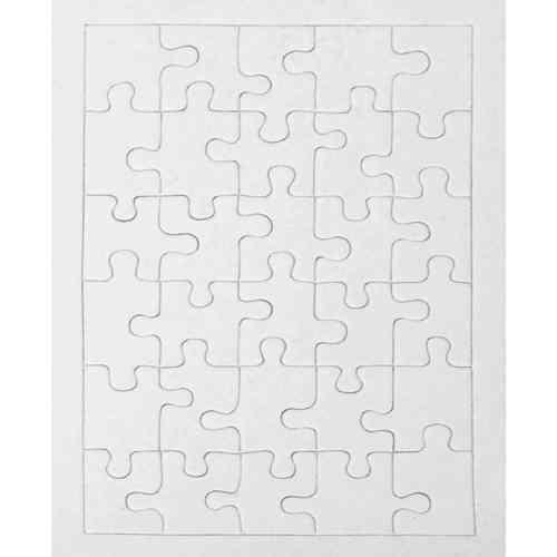 Préférence Puzzle en carton blanc à décorer Rectangle 30 pièces QT21