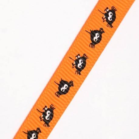 Ruban gros grain Araignée, 9 mm, au mètre