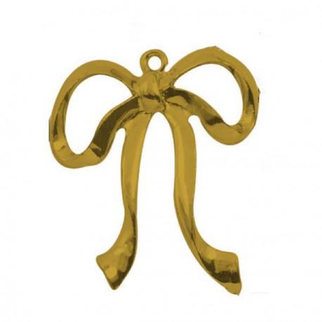 Pendentif breloque en métal grand Noeud, doré