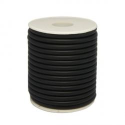 Cordon buna en caoutchouc, noir 3,5 mm ø