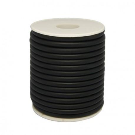 Cordon buna en caoutchouc, noir 3 mm ø