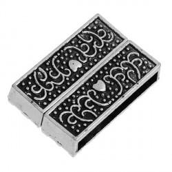 Fermoir aimanté émail noir 32 mm