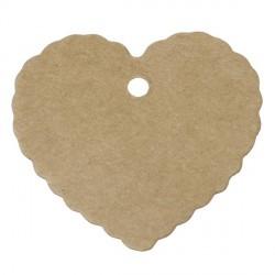 Etiquette Coeur papier cartonné