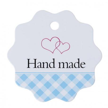 Etiquette Hand Made papier cartonné blanc