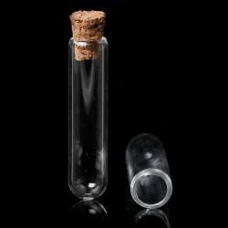 Fiole longue en verre, 10 x 40 mm
