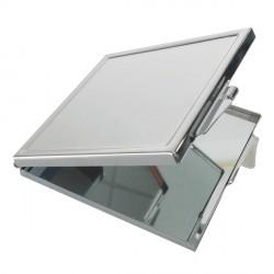 Miroir carré métallique à décorer
