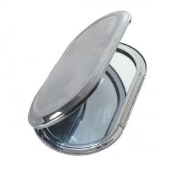 Miroir ovale métallique à décorer