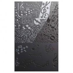 Plaque de texture Musique 20 x 13 cm