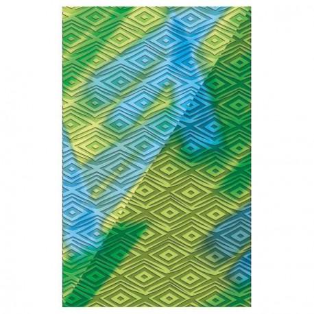 Plaque de texture Losanges 20 x 13 cm