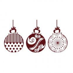 Tampon 3 Boules de Noël