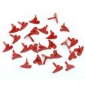 Attaches parisiennes coeurs rouges - 100 pièces