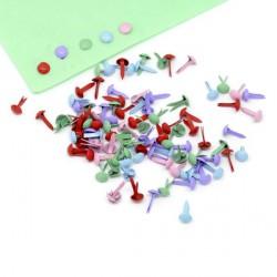Attaches parisiennes rondes multicolores - 500 pièces