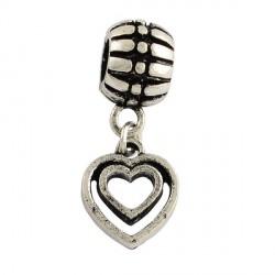 Métal pendentif Coeur style Pandora - à l'unité