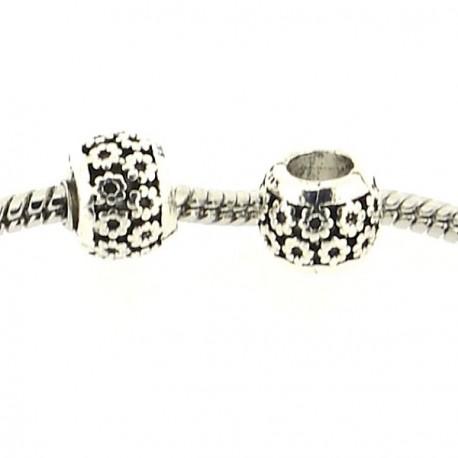 Métal perle Petites Fleurs style Pandora - à l'unité