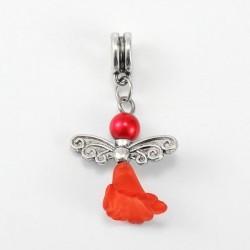 Perle Ange rouge style Pandora - à l'unité