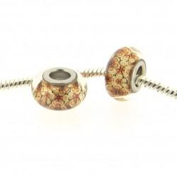 Perle de verre Fleurs d'automne style Pandora - à l'unité