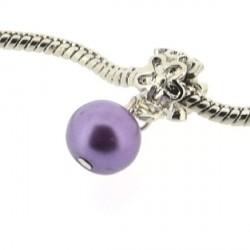 Métal Perle violet style Pandora - à l'unité