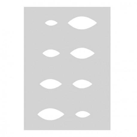 Gabarit Amandes 21 x 15 cm