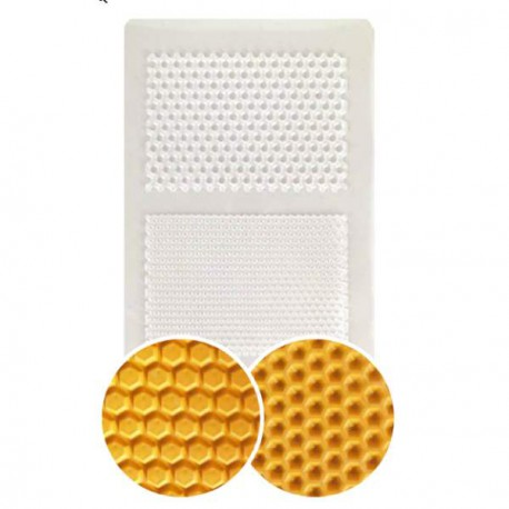 Plaque de texture Nid d'abeille 20 x 13 cm